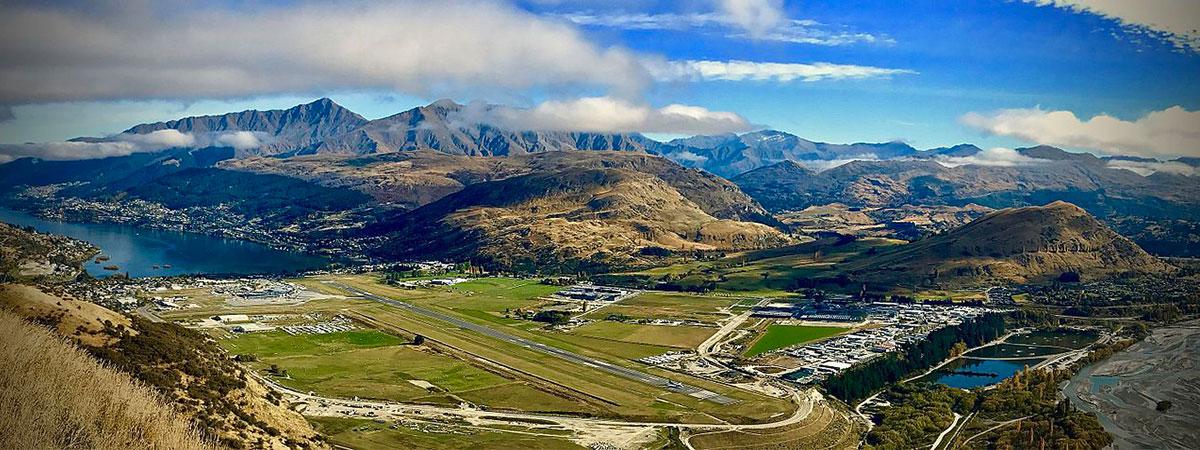 Queens town airport New Zeeland